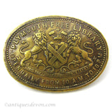 1880's Plymouth, Devon Free Library Original Antique Brass Token UK