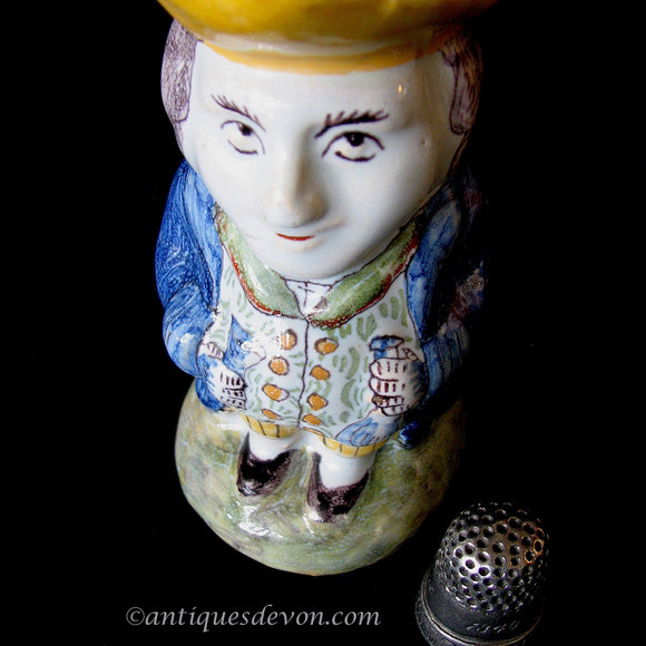 1895 Charles Fourmaintraux Courquin Devres French Faience Toby Jug