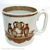 1839-40 Antique Goodwin & Ellis, G & E Pottery Early Transferware Mug