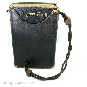 1890's Small Old Common Bible Prayer & Hymns Books in Rope Handle Case