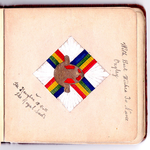 1917 WWI Soldier Autograph Book to Nurse Ongley, Nethercourt Hosp Kent