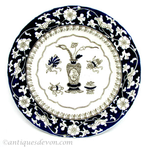 1860's Antique Ashworth / Mason's Ironstone Chinese Antiquities plate