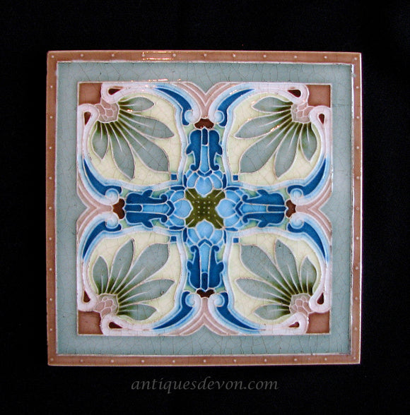 c 1900 Minton China Works English Pottery Arts & Crafts / Nouveau Tile
