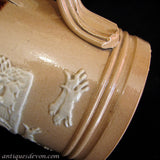 c. 1900 English Edwardian Royal Doulton Sprigged Relief Stoneware Mug