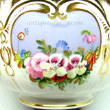 1890's Beautiful Antique Victorian Pansy Pansies Bowl Gold Gilt Gilded