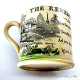 1820 English Staffordshire Child's Mug w/ Jane & Ann Taylor Poem, Hymn