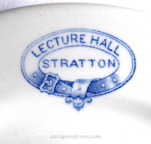 "c. 1920 2 Antique Vitrex ""Stratton Lecture Hall"" Plates, Cornwall, UK"