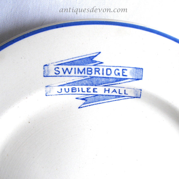 1930's Swimbridge Jubilee Hall Devon, England George V Antique Plate