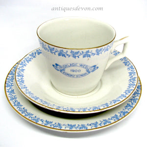1900 Antique Cricklade Wesleyan Sunday School Cup, Saucer and Plate
