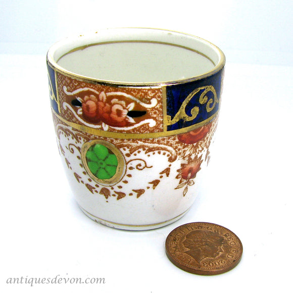 c. 1910 Edwardian Cobalt & Gilt Single Egg Cup, possibly Royal Albert