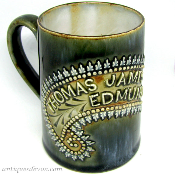 1903 Thomas James Edmund Barrett Baby Mug, Louisa Wakely Royal Doulton