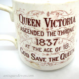 1897 Rare Queen Victoria Jubilee Warwick Sunday School Reward Mug