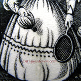1830s Victorian Battledore Badminton Transferware Sports Child's Plate