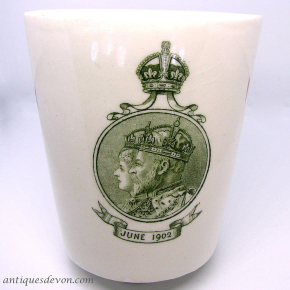 1902 Edward VII Royal Doulton Coronation Dinner Beaker, Cup or Mug