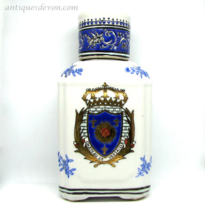 20th c. Antique Chateau De Versailles French Armorial Chinese Decanter