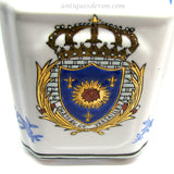 1890 Antique Chateau De Versailles French Armorial Chinese Decanter