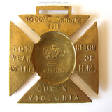1837-1897 Queen Victoria's Golden Jubilee Brass Medal 60th Year Reign