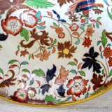 "1860's 12"" Antique Amherst Staffordshire Ironstone Pedestal Punch Bowl"