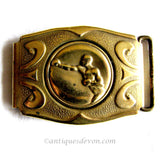 1915 Antique Martin Co. English Brass Edwardian era Boxing Belt Buckle