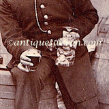 1890's Photo Bobby Policeman w/ Antique Toby Jug: Bedfordshire England