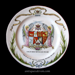 1911 King George V & Queen Mary Coronation Plate by Shelley Late Foley