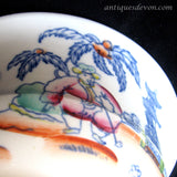 1830's Antique Staffordshire Oriental Chinoiserie Teatime Slop Bowl