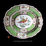 1890's 3 Antique Victorian Cauldon Pottery Staffordshire Bird Platters