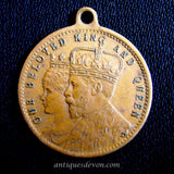 1911 King George, Queen Mary Coronation Copper Coin Medallion Souvenir