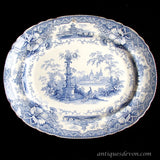 "1833-1837 Machin & Potts ""Cavendish"" Blue & White Transferware Platter"