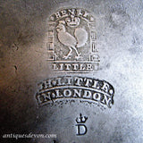 1750's Georgian era Antique Pewter Plate by Henry Little of London