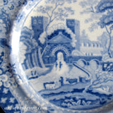 "1820's Clews ""Castle"" Pattern Pearlware Staffordshire 6"" Cake Plate"