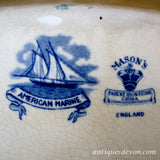 "1890's Masons ""American Marine"" Transferware Ship Nautical Platter"