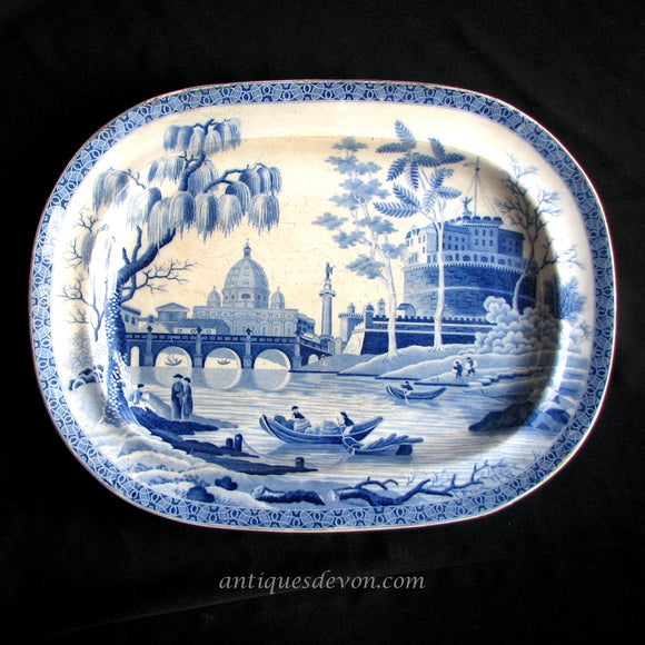 1815 Spode Georgian era Blue & White Transferware