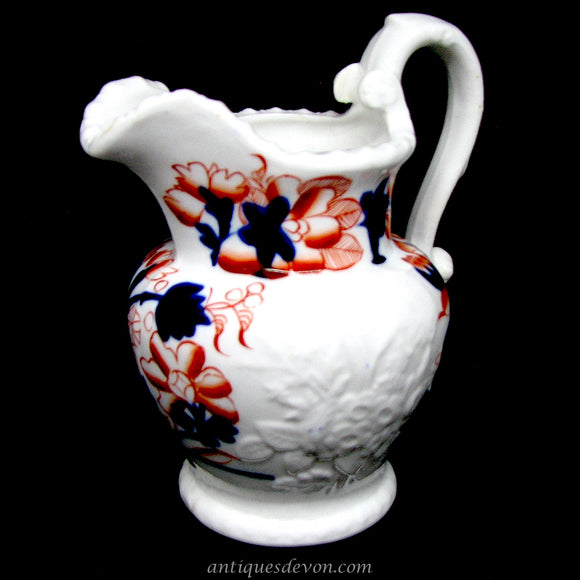 1825 John & Richard Riley Georgian era Gaudy Welsh Cream Jug / Pitcher