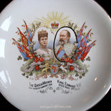 1910 King Edward VII Mourning Death Plate Queen Mary, Winton Grimwades