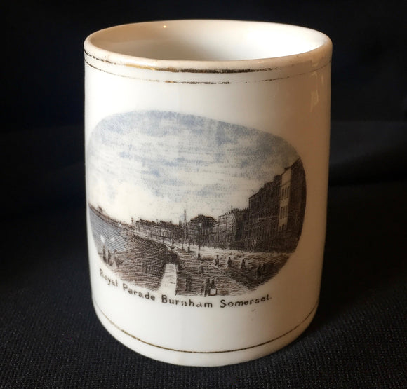 1890's Victorian era Royal Parade Burnham Somerset Souvenir Coffee Can