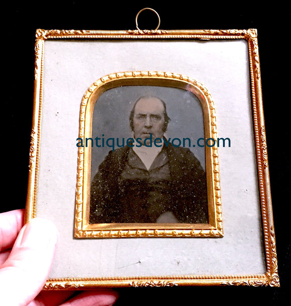 1850 William Wall ID Ambrotype Photo, Stratford Upon Avon Warwickshire