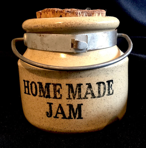 1950's Moira Staffordshire Stoneware Homemade Jam Pot Jar-Metal Handle