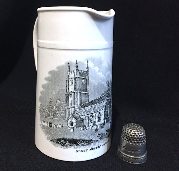 1890's Transferware Souvenir Jug-North Molton All Saints Church, Devon