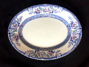 1880's Ashworth Bros mark Blue & White Transferware Ironstone Platter