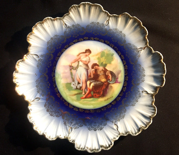 c 1900 Angelica Kauffmann Victoria China Austria Scalloped Plate