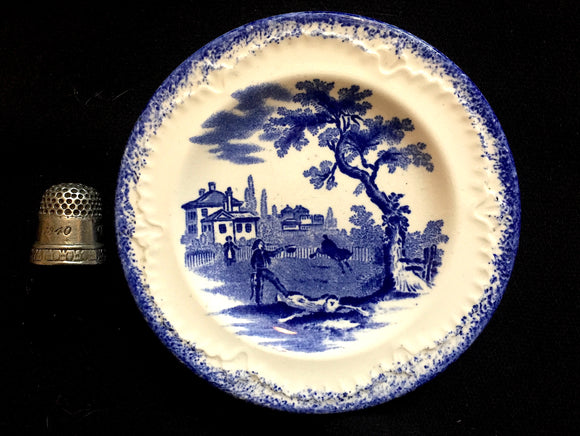1900 Ridgways Miniature Childs Plate-Humphrey's Clock Charles Dickens
