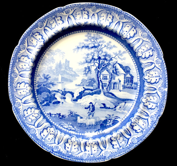1820's Rathbone Scottish Pub Plate-Patronised by the Duke of Wellington