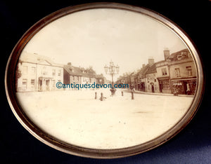 c. 1860's Albumen Photo of the Red Lion Hotel Pub, Ringwood, Hampshire