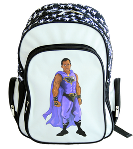 Black Superhero Backpack