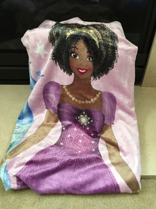 Plush Black Princess Fleece Throw
