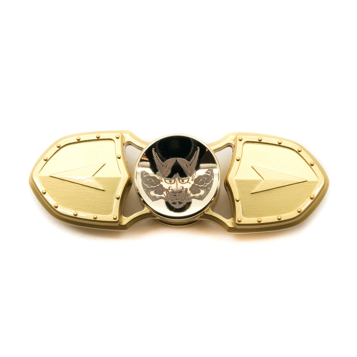 Oni Edition Fidget Hand Spinner - Brass- Shield