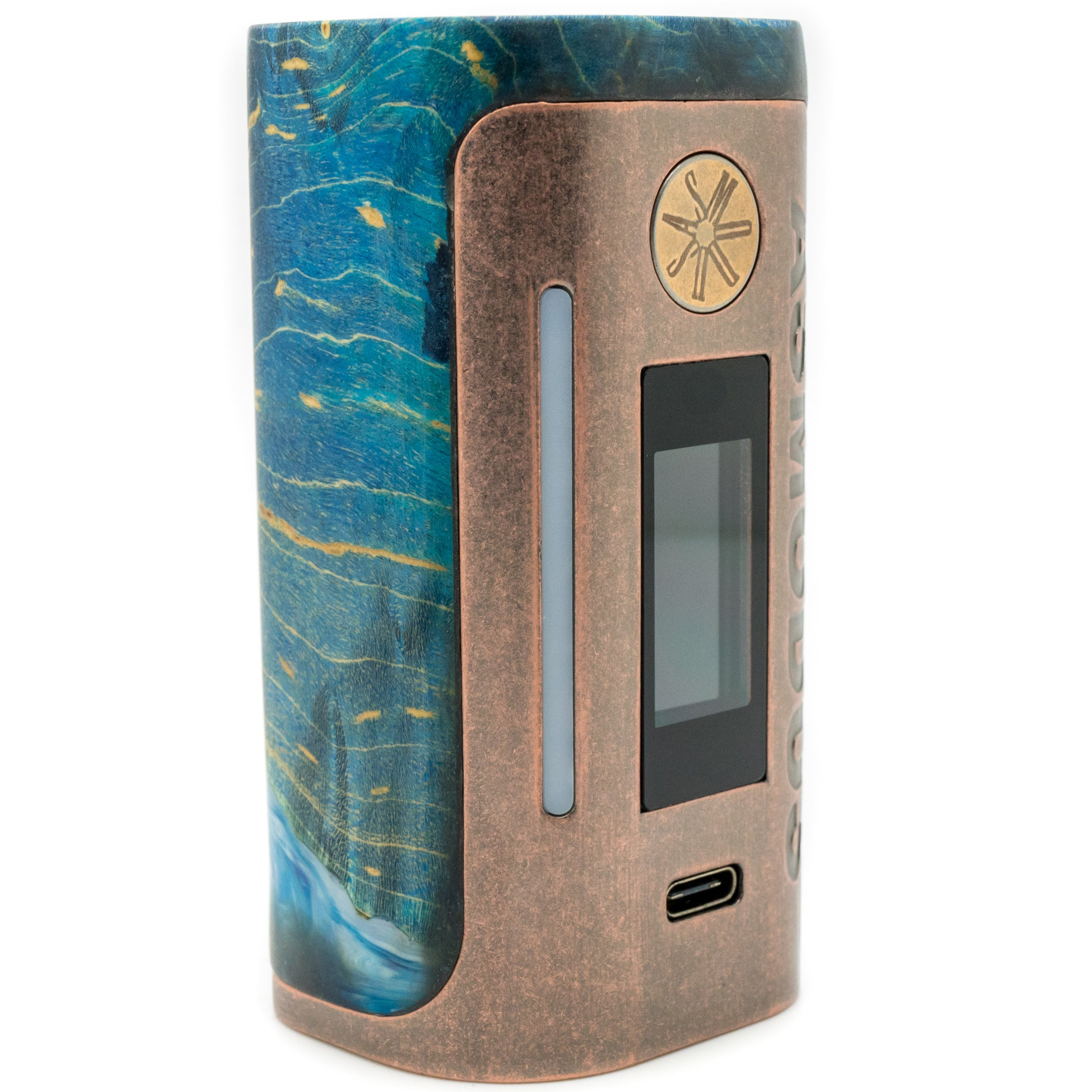 Custom Lustro 200w  Stabilized Wood Mod Copper Relic Edition
