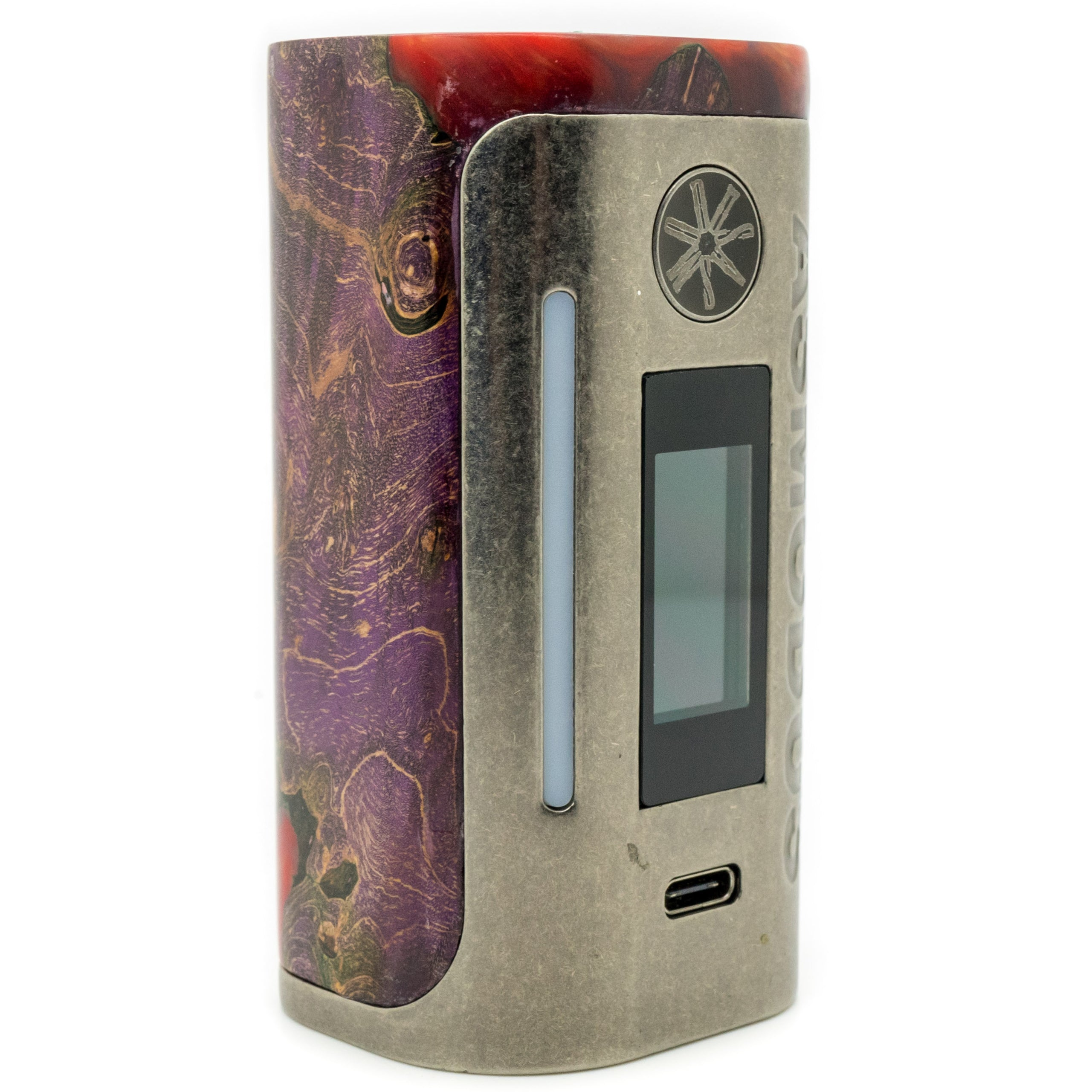 Custom Lustro 200w Stabilized Wood Mod Gunmetal Relic Edition