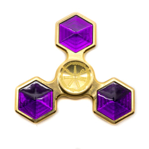 Asmodus R188 Bearing Fidget Hand Spinner - Brass- Jewel [purple]